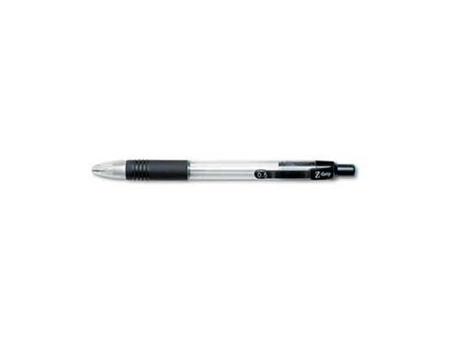 Zebra Z-Grip Mechanical Pencil, HB, 0.5 mm, Clear Barrel, 12/Pack