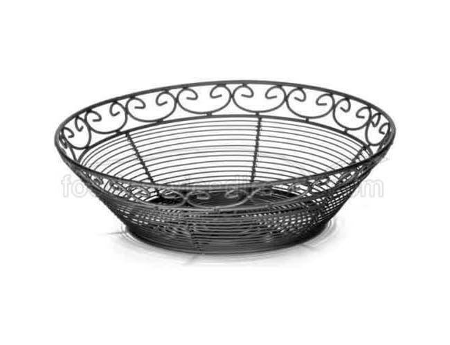 Tablecraft Mediterranean Collection Round Serving Basket, 10 x 3 inch -- 6 per case.