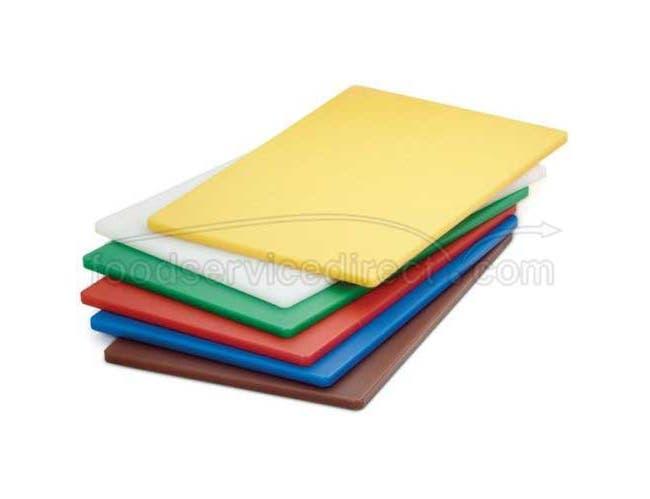Tablecraft Brown Polyethylene Cutting Board, 12 x 18 inch -- 6 per case.