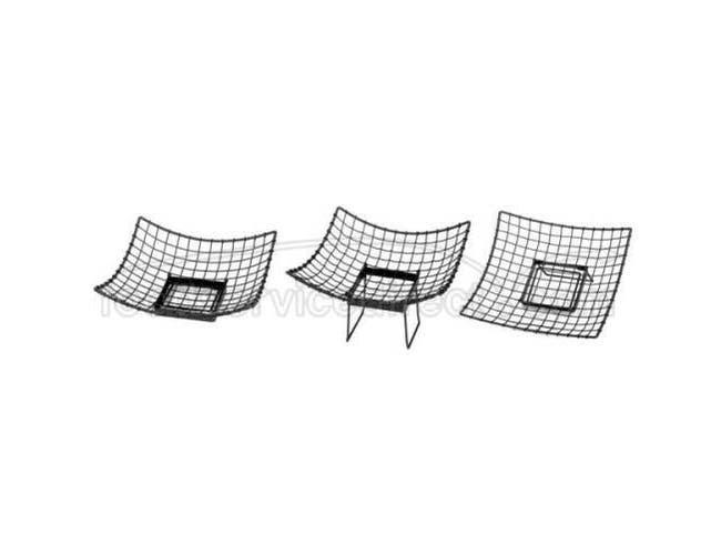Tablecraft Stand Alone Transformer Square Buffet Service Basket, 17 x 17 x 6 inch -- 1 each.