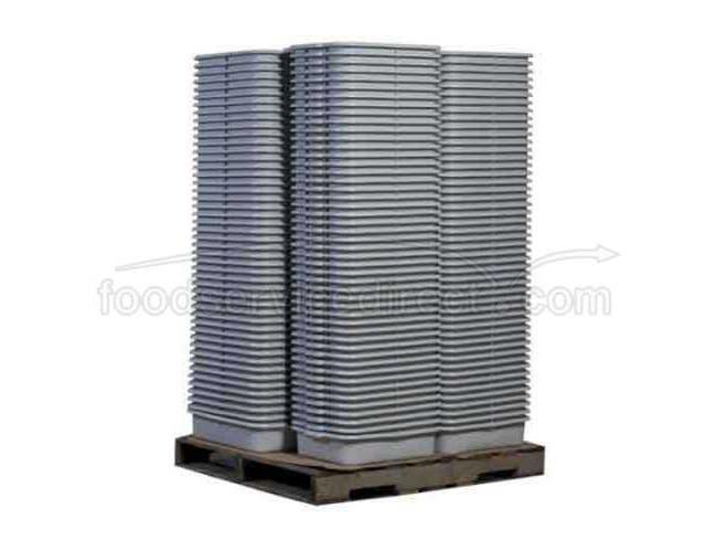 Tablecraft High Density Polyethylene Black Palletized Tote Box, 7 inch -- 240 per case.