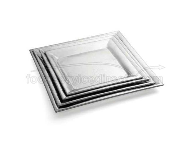 Tablecraft Remington Collection 18-8 Stainless Steel Square Buffet Service Tray, 20 inch -- 1 each.