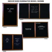 United Visual Products Grey Triple Door Standard Indoor Wood Enclosed Letterboard, 72 x 36 Inch -- 1 each