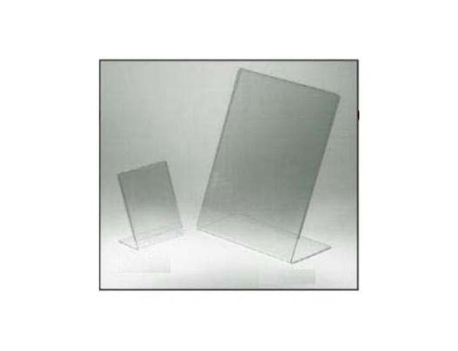 Slantback Countertop Sign Holder manufacured from seamless Acrylic. Size: 8 1/2 x 11 inch -- 1 each.