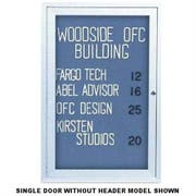 Indoor Enclosed Traditional Frame Easy Tack Board with 1 Door. Size: 24 inch X 36 inch -- 1 each.
