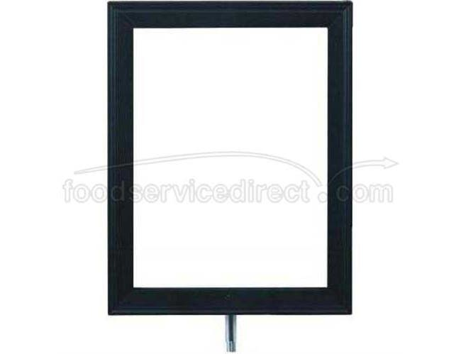Sign Frame For Rope Posts. Available in black only. Attaches to Metro Post. Size: 9 x 12 inch -- 1 each.