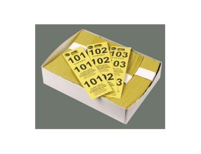 Winco Paper Coat Check Tag - 500 per box -- 20 boxes per case.