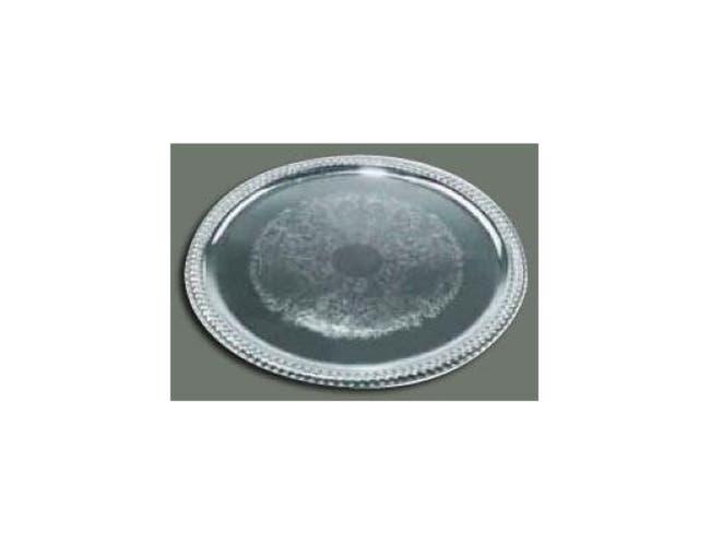 Winco Chrome Plated Oval Serving Tray, 18 3/4 x 13 inch -- 1 each.