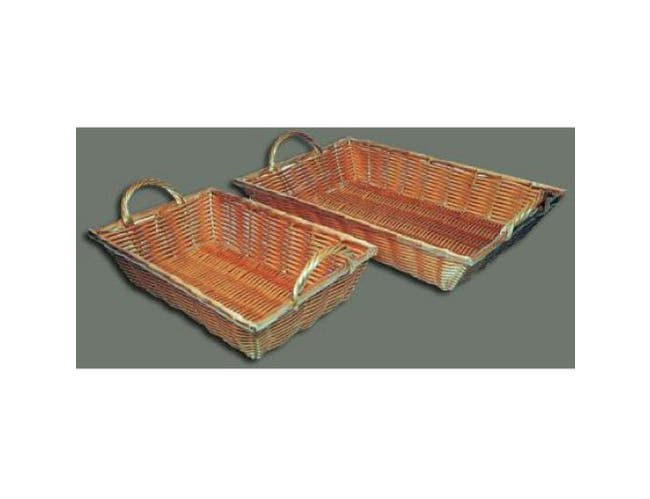 Winco Polypropylene Oblong Natural Woven Basket, 12 x 8 x 3 inch -- 1 each.