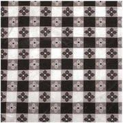 Winco Black Square Table Cloth, 52 x 52 inch -- 12 per case.
