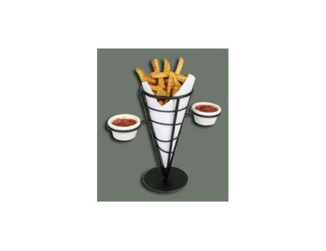 Winco Wire French Fries Holder - 1 Cone, 4 5/8 x 9 3/8 inch -- 1 each.