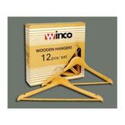 Winco Maple Hardwood Coat Hanger, 14.25 inch Length -- 12 per case.