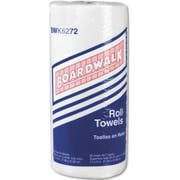 Boardwalk White Household Perforated Paper Towel Roll - 85 sheets per roll -- 30 rolls per case.