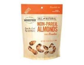 Woodstock Farms All Natural Non Pareil Supreme Raw Almond, 7.5 Ounce -- 8 per case.