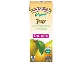 R W Knudsen Organic Pear Juice, 6.75 Fluid Ounce -- 28 per case.