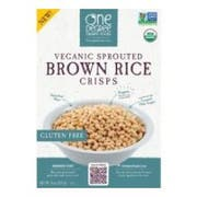 One Degree Organic Foods Sprouted Brown Rice Crisp, 8 Ounce -- 6 per case