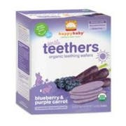 Happy Baby Organic Blueberry and Carrot Teethers Baby Food, 1.7 Ounce -- 6 per case.