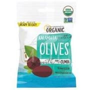 Mediterranean Organic Kalamata Pitted Snack Olives with Cumin, 2.5 Ounce -- 12 per case.