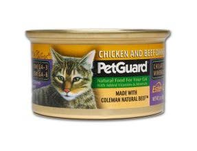 Pet Guard Chicken and Beef Dinner Canned Cat Food, 13.2 Ounce -- 12 per case.