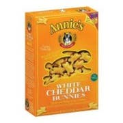 Annies Homegrown White Cheddar Bunny Cracker, 7.5 Ounce -- 12 per case