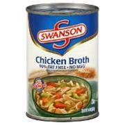 Swanson Classic Chicken Broth - 14.5 oz. can, 24 per case
