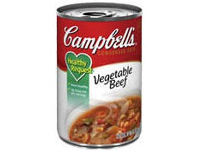 Campbells Healthy Request Vegetable Beef Soup - 10.5 oz. can, 48 per case