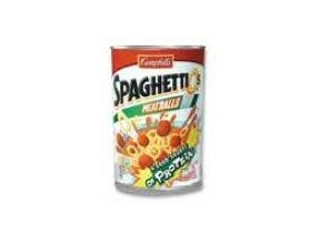 Campbells Spaghettio Pasta with Meatballs, 7.25 Ounce -- 24 per case.