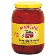 Mancini Roasted Red Peppers - 12 oz. jar, 12 jars per case