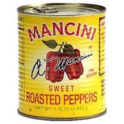 Mancini Roasted Red Peppers - 29 oz. can, 12 cans per case