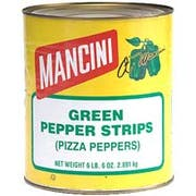 Mancini Green Pepper Strip - no.10 Can, 6 cans per case
