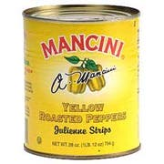 Mancini Roasted Yellow Peppers - 48 oz. can, 12 cans per case