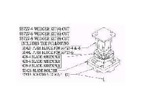 Nemco 4 Section Wedger Kit Only -- 1 each.