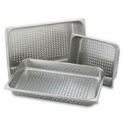 Perforated Pans,Full Size,Depth 4 Inches, 22 Gauge, Stainless Steel -- 1 Each.