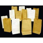 AJM Packaging Bleached Grocery Bag -- 500 per case.