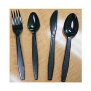 Goldmax Platinum Series Black Polystyrene Extra Heavy Weight Teaspoon, 13.75 x 8.50 x 8.75 inch -- 10 per case.