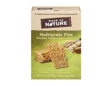 Back To Nature Multi Grain Flax Flatbread Crackers - 5.5 oz. box, 6 per case