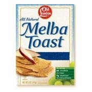 Old London White Grain Melba Toast Cracker, 0.4 Ounce - 2 per pack -- 320 per case.