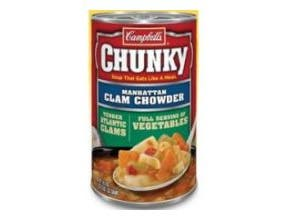 Campbells Chunky Manhattan Clam Chowder Soup, 18.8 Ounce -- 12 per case.