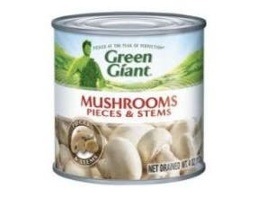 Green Giant Mushrooms Pieces and Stems Vegetable, 4 Ounce -- 24 per case.