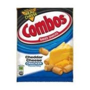 Combos Cheddar Cheese Cracker Singles Snacks - 18 count per pack -- 12 packs per case.