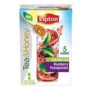 Lipton Blackberry Pomegranate Iced Green Tea To Go Stix - 10 per pack -- 12 packs per case.