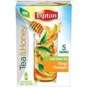 Lipton Mango Pineapple Iced Green Tea To Go Stix - 10 per pack -- 12 packs per case.