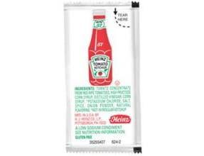 Heinz Low Sodium Tomato Ketchup, 9 Gram -- 1000 per case.