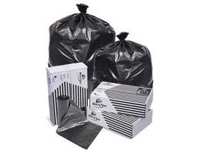 Pitt Plastics 33 x 39 Black Perforated Can Liner Roll -- 250 per case.