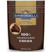 Ghirardelli 100 Percent Unsweetened Cocoa Powder, 8 Ounce Pouch -- 6 per case.