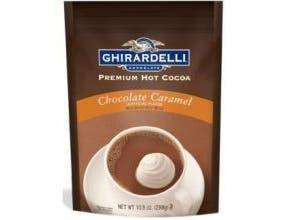 Ghirardelli Hot Cocoa Chocolate Caramel, 10.5 Ounce Pouch -- 6 per case.