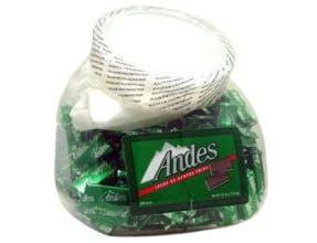Andes Creme De Menthe Thins - 240 count tub, 6 per case