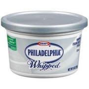 Kraft Philadelphia Whipped Plain Cream Cheese Spread, 8 Ounce -- 12 per case.