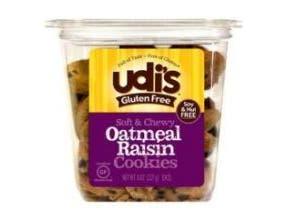 Udis Oatmeal Raisin Cookie, 7.9 Ounce -- 8 per case.