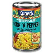 Kuners Corn and Peppers, 15 ounce -- 12 per case